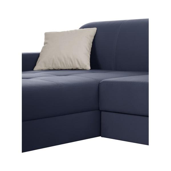 Modrá pohovka Modernist Symbole, ľavý roh