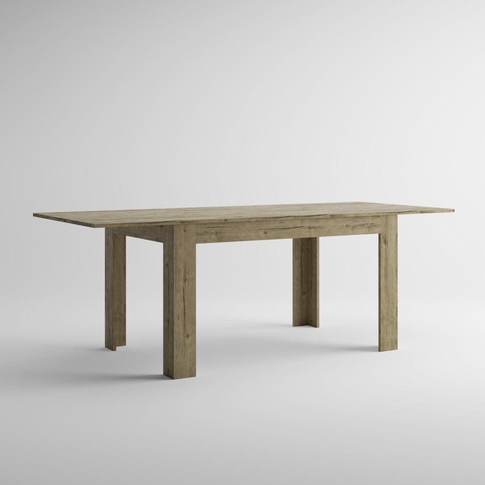 Rozkladací jedálenský stôl v dekore duba sherwood MobiliFiver Easy, dĺžka 140-220 cm