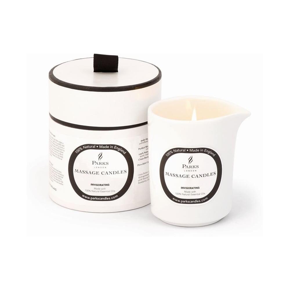 Masážna sviečka s vôňou mandarínky a rozmarínu Parks Candles London Euphoric Invigorating, 50 hodín horenia