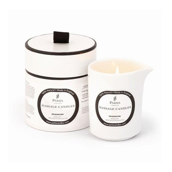 Masážna sviečka s vôňou mandarínky a rozmarínu Parks Candles London Euphoric Invigorating, 50hodín horenia