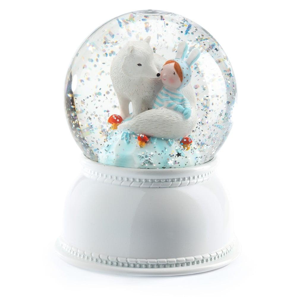Biele nočné svietidlo Djeco Lila