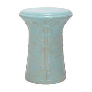 Tyrkysový porcelánový stolík vhodný do exteriéru Safavieh Imperial