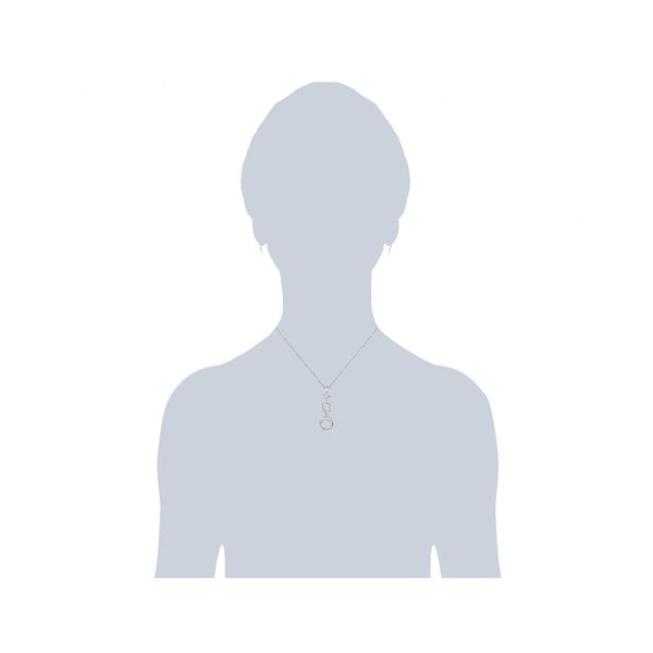 Náhrdelník so Swarovski Elements Round White