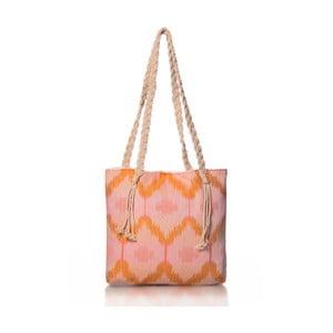 Ružovo-oranžová taška Homedebleu Ripple, 50×40cm