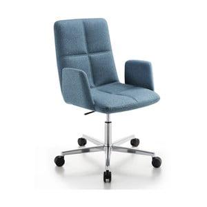 Kancelárska stolička na kolieskach Uno Zago, zelenomodrá