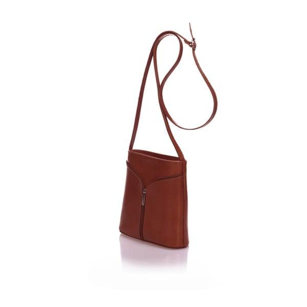 Hnedá kožená kabelka Giulia Massari Calf Little