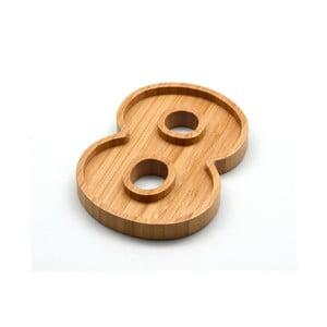 Bambusový servírovací tanierik Bambum Numero Eight