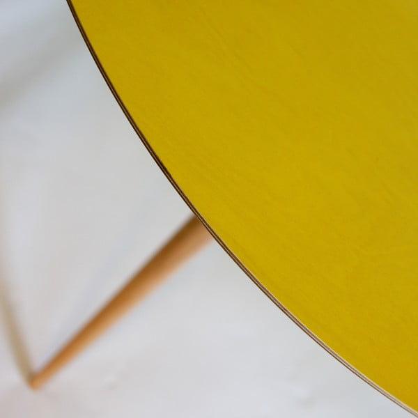 Žltý jedálenský stôl Ragaba Triad