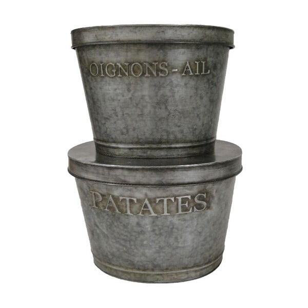 Sada 2 kovových boxov Antic Line Patatas