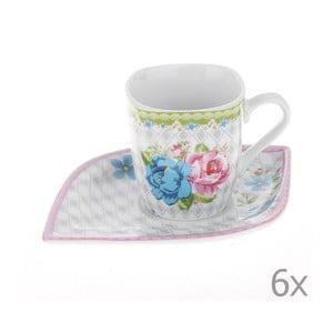 Set hrnčekov Coffee Roses, 6 ks