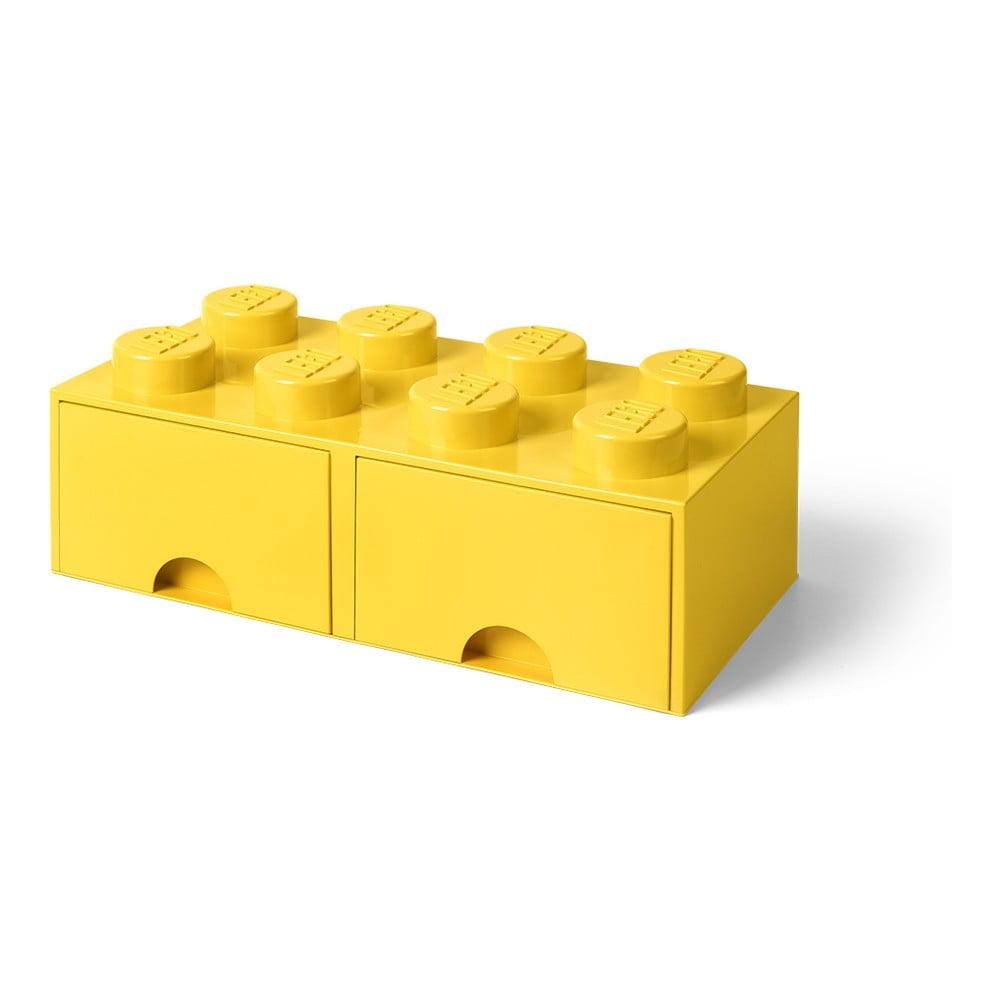 dd6df8900 Dekorácie Úložné krabice a košíky · Žltý úložný box s dvoma zásuvkami LEGO®