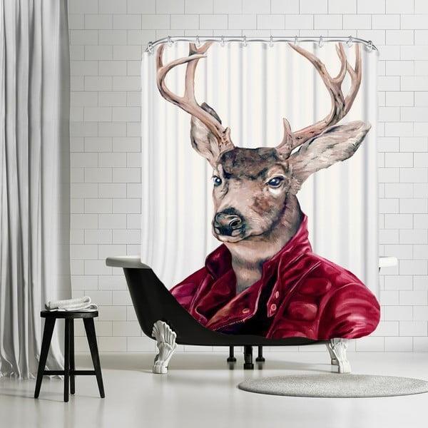Kúpeľňový záves Deer, 180x180 cm