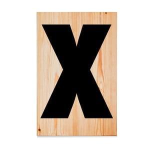 Drevená ceduľa Letters X