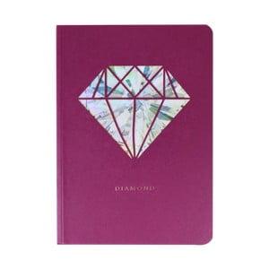 Zápisník A6 Portico Designs Diamant, 124stránok