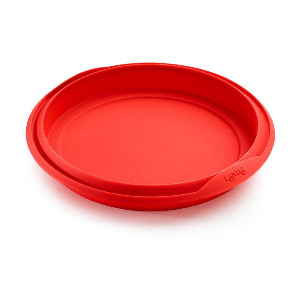 Červená silikónová forma na pečenie Lékué, ⌀ 29 cm