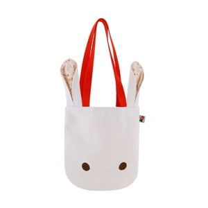 Biela plátená taška Santoro London Poppi Loves White Bunny