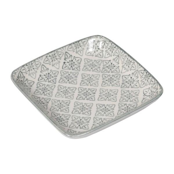 Sada 4 porcelánových tanierov Old Floor Square, 12.5 cm
