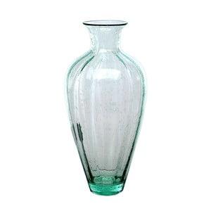 Sklenená váza Dino Bianchi Trieste, výška 40 cm