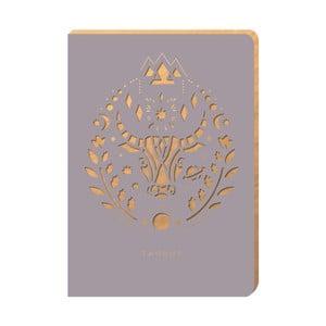 Linajkový zápisník Portico Designs Býk, 124 stránok