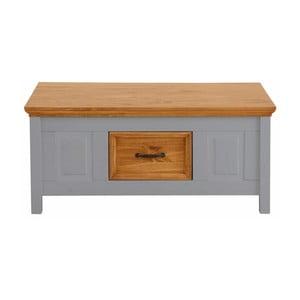Sivý konferenčný stolík z masívneho borovicového dreva Støraa Suzie