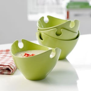 Set 4 porcelánových misiek Steel Function Milano Green