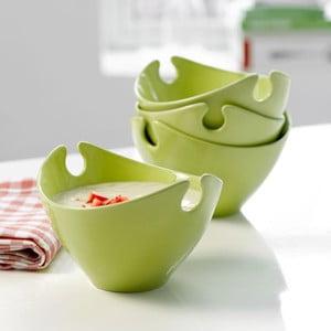Sada 4 porcelánových misiek Steel Function Milano Green