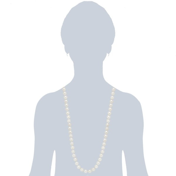Náhrdelník s bielymi perlami ⌀ 10 mm Perldesse Muschel, dĺžka 90 cm