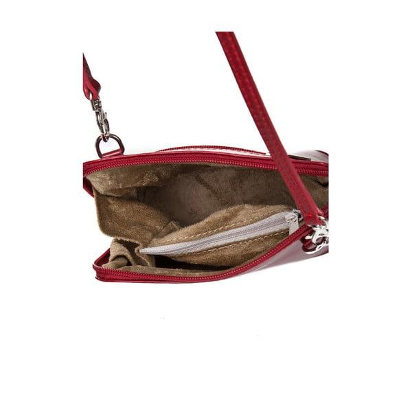 Červená kožená kabelka Giorgio Costa Jacinthe