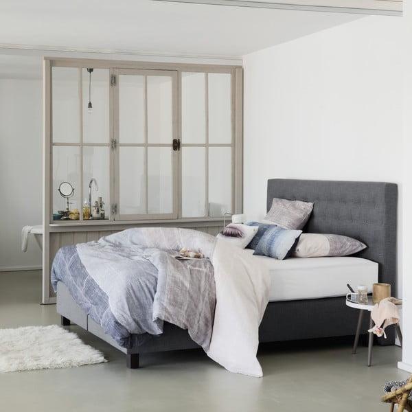 Sivá boxspring posteľ Revor Venezia, 200×200cm