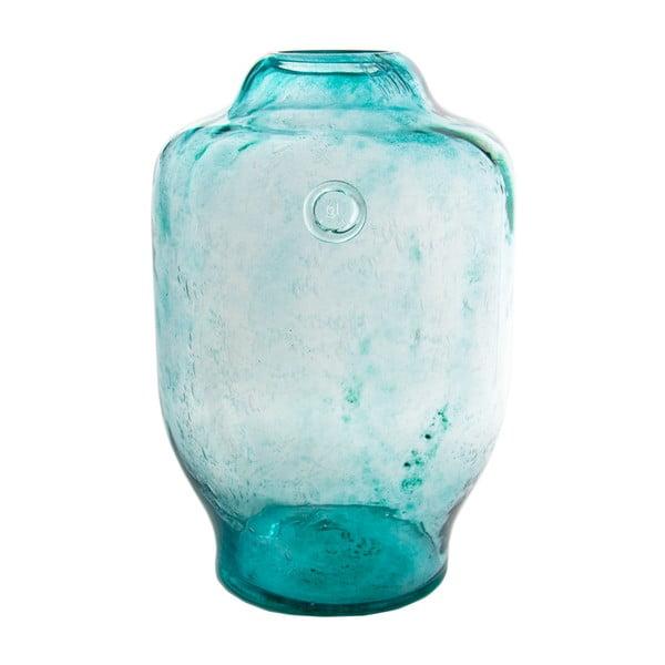 Sklenená váza, tyrkysová