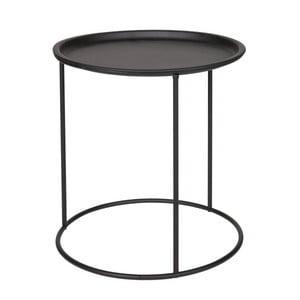 Čierny odkladací stolík De Eekhoorn Ivar, Ø 40cm