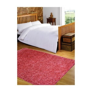 Svetločervený koberec Webtappeti Shaggy, 60 x 100 cm