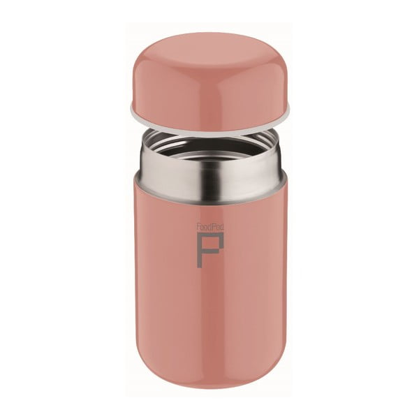 Ružová termoska na polievku Pioneer Foodpod, 400 ml