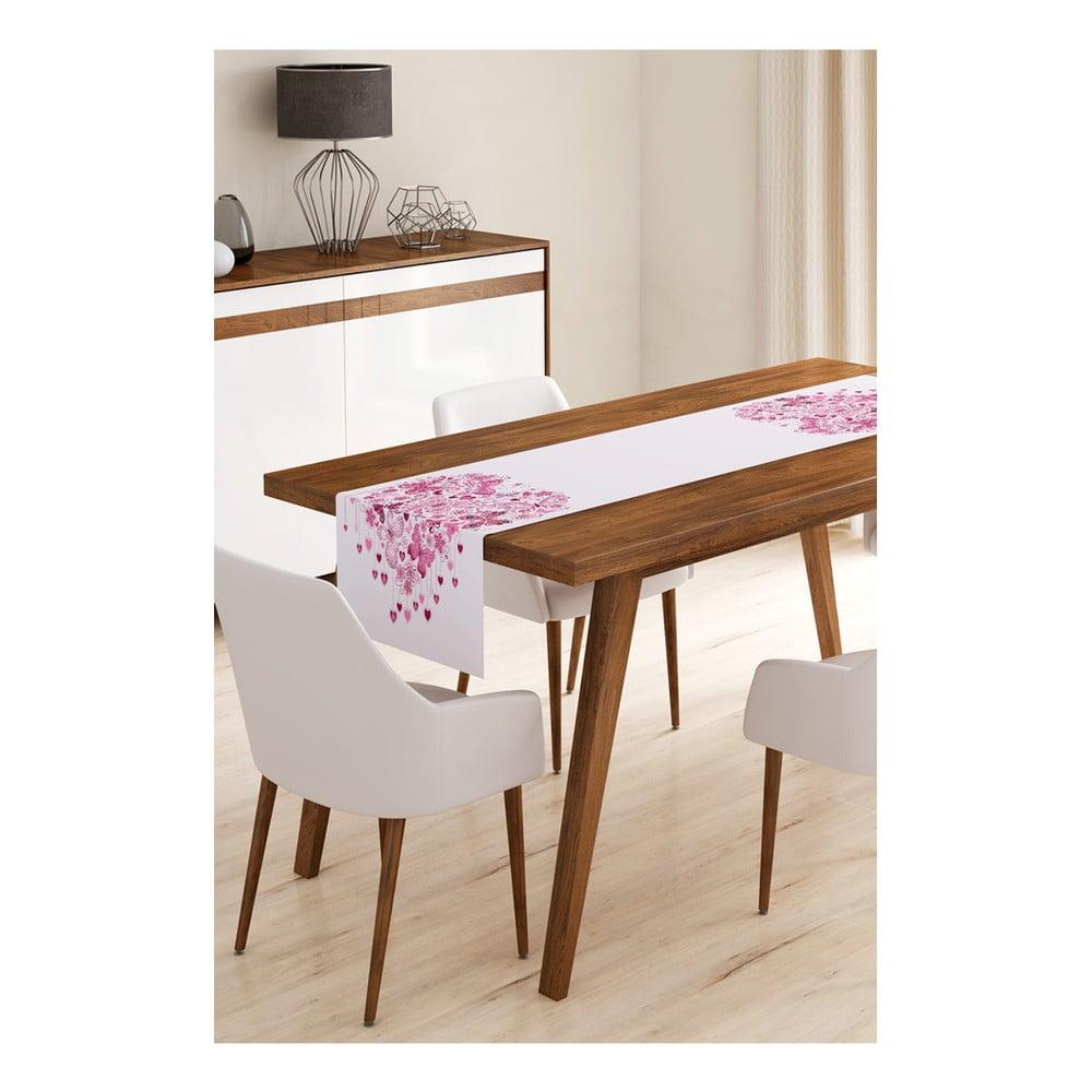 Behúň na stôl z mikrovlákna Minimalist Cushion Covers Heart of Butterflies, 45 × 145 cm