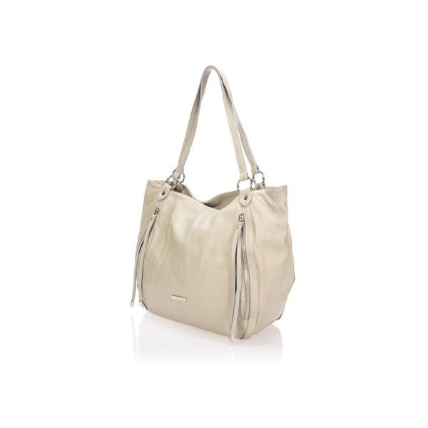 Sivá kožená kabelka Krole Kelly