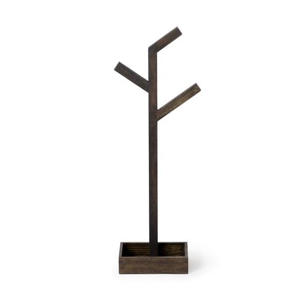 Drevený stojan na osušky Wireworks Mezza Dark Branch