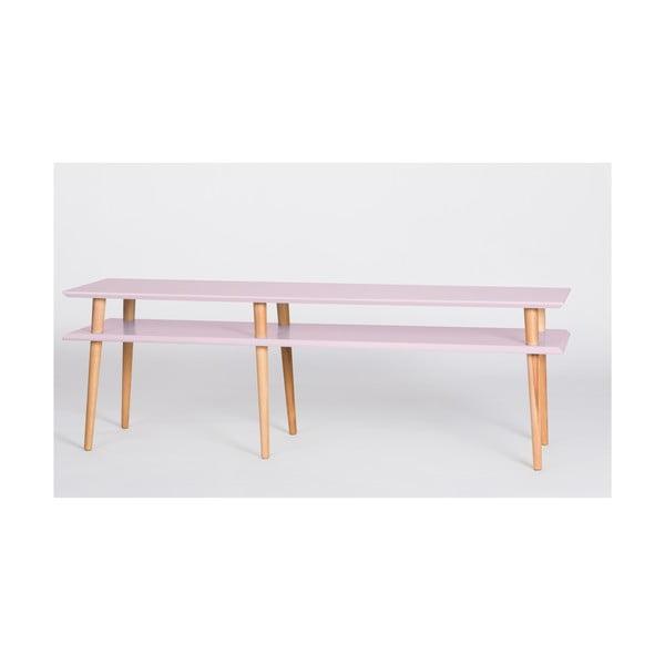 Ružový konferenčný stolík Ragaba Mugo,dĺžka 159cm