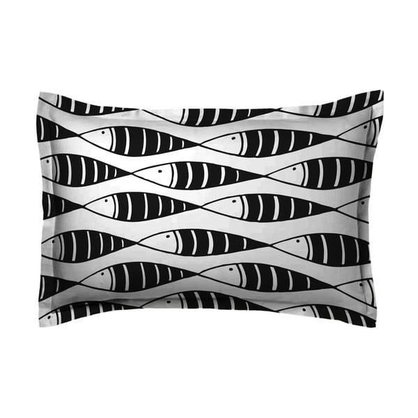 Obliečka na vankúš Hipster Black Fish, 50x70 cm