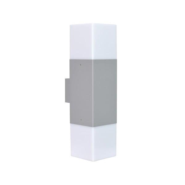 Svetlosivé vonkajšie nástenné svetlo Trio Hudson, výška 33 cm