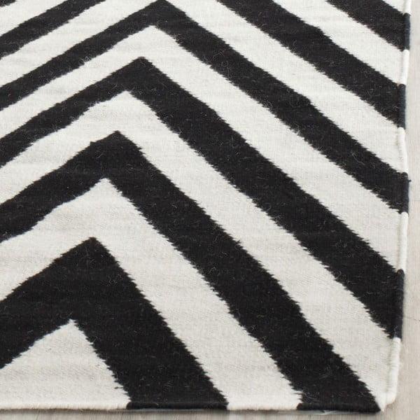 Vlnený koberec Safavieh Serena, 121x182 cm, čierny