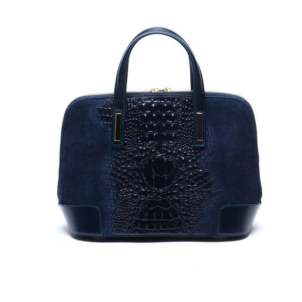 Tmavomodrá kožená kabelka Mangotti Jasminum