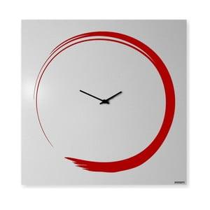 Nástenné hodiny dESIGNoBJECT.it Enso Clock Red, 50 x 50 cm