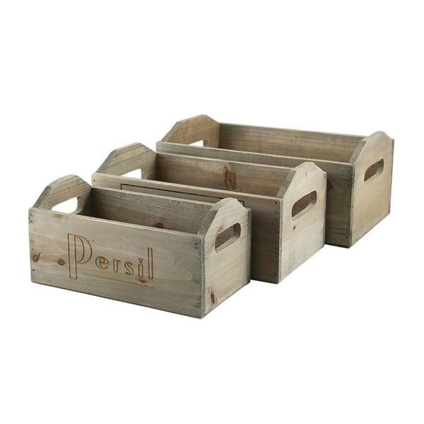 Drevený Box Rectangular, 3 ks