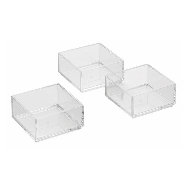 Tri úložné boxy Clarity