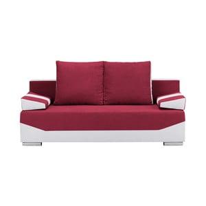 Červeno-sivá trojmiestna rozkladacia pohovka s úložným priestorom Melart Marcel