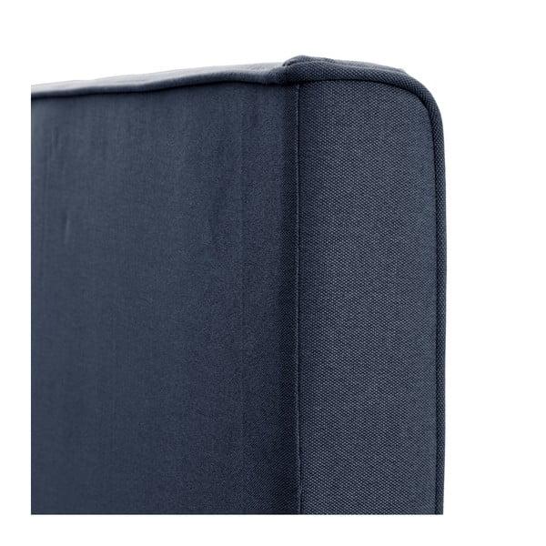 Tmavomodrá posteľ s čiernymi nohami Vivonita Kent 180x200cm