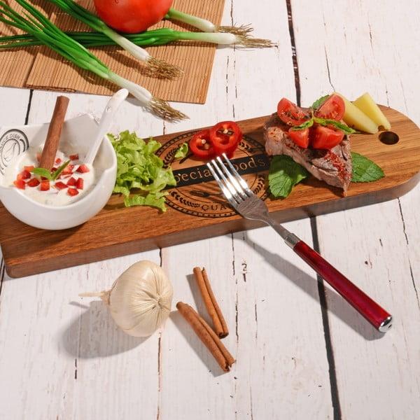 Bambusová doštička na servírovanie s miskou Dippy