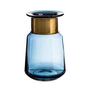 Modrá váza Denzzo Saulo, výška 21cm