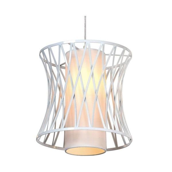 Biele stropné svietidlo Cage, 100 cm