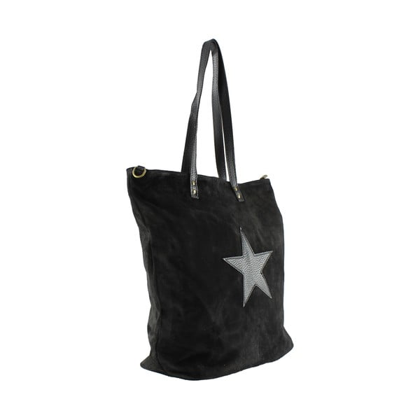 Kožená kabelka Frenze, čierna